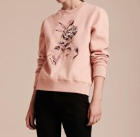 Original Burberry Pullover Blume Ash Rose M Luxus