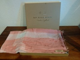 Burberry Sciarpa estiva rosa pallido-bianco sporco Modal