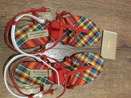Burberry Toe-Post sandals multicolored leather