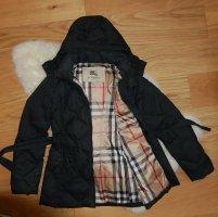 Original Burberry Winterjacke/Daunenjacke Daunenmantel Gr36/38 S/M schwarz Wintermantel Mantel Jacke