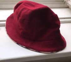 Burberry Woolen Hat dark red-carmine wool