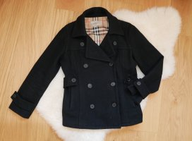 Burberry Short Coat black-gold-colored new wool