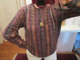 Original Carlo Colucci Crazy Pattern Wollpullover - Größe M L - unisex Vintage