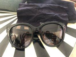 Celine Lunettes de soleil rondes noir