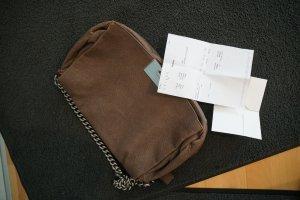 Original Celine Handtasche Watch me Work Serie Rechnung Leder Bag Kettenhenkel silber