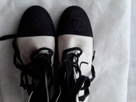 Chanel Botines Chelsea blanco-negro Cuero