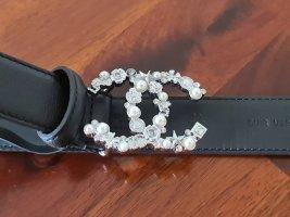 Chanel Boucle de ceinture noir cuir