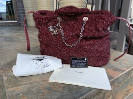 Original Chanel knitted bag with chains like new