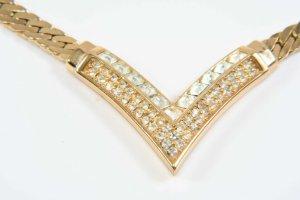 Original Christian Dior Kette 18 kt vergoldet Gold Luxus Vintage Goldkette