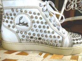 Original CHRISTIAN LOUBOUTIN High Top Spike Sneaker 37 weiß