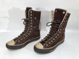 """Original Converse All Star """"Chucks"""" braunes Leder Winter gefüttert Gr.37,5"""