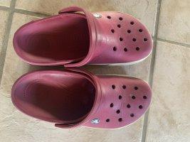 Crocs Pantoufles-chaussette rouge foncé-bordeau
