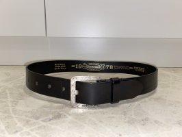 Diesel Cintura di pelle nero