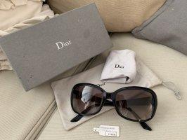 Dior Occhiale da sole spigoloso nero-oro