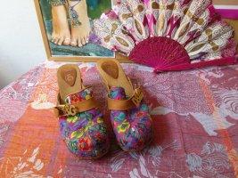 Dolce & Gabbana Chodaki Wielokolorowy Drewno