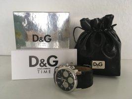 Original Dolce & Gabbana Damenuhr Leder schwarz