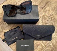 Dolce & Gabbana Lunettes papillon brun foncé-brun noir