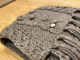 Dreimaster Écharpe en crochet gris brun