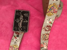 donedhardy by Christian Audigier Leather Belt multicolored leather
