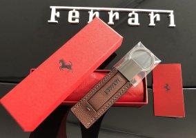Original Ferrari Schlüsselanhänger Anhänger Leder Lederanhänger