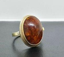 Original Fischland 935 Silber Bernstein Art deco Ring vergoldet Amber Juwelierstück