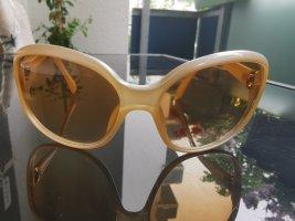 Giorgio  Armani Gafas de sol ovaladas crema-beige claro tejido mezclado