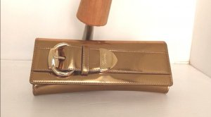 Original Gucci Clutch Tasche Romy buckle gold Lack Leder