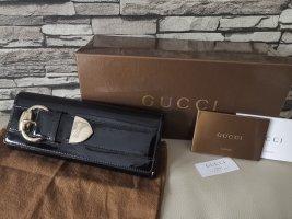 Original Gucci Crystal Romy Clutch Tasche schwarz Lack mit Rechnung OVP