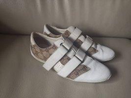 Gucci Basket velcro blanc-gris brun