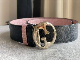 Gucci Cinturón reversible negro-color rosa dorado