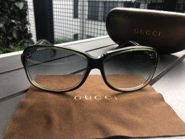 Gucci Okulary khaki-zielono-szary