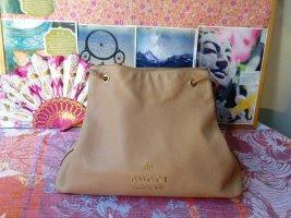 Gucci Sac hobo beige-brun foncé cuir