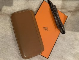 Hermès Hoesje voor mobiele telefoons cognac Leer