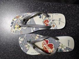 Original Havaianas Flip-Flops * silber-blau * Gr. 39/40