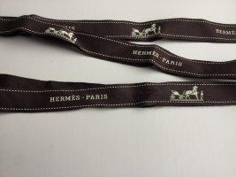 Hermès Bandeau cheveux brun foncé coton