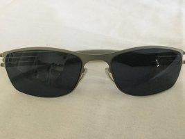 ic! Berlin Oval Sunglasses silver-colored-dark blue