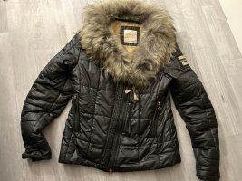 Original Jacke von Nickelson, Echtfellkragen abnehmbar, Größe L, schwarz