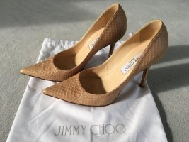 Original Jimmy Choo Highheels/Pumps nude Gr. 36,5