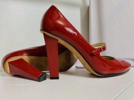 Original Jimmy Choo Lackleder High Heels rot 38