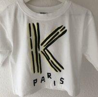 Kenzo Cropped Shirt white cotton