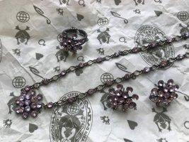 Original Konplott Magic Fireball Vintage-Rosa Ring/Ohrringe/Kette