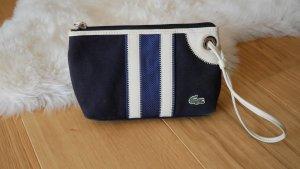 Original Lacoste Kosmetiktasche Clutsch blau weiß dunkelblau Kosmetiktäschchen maritim Tasche Schminktasche