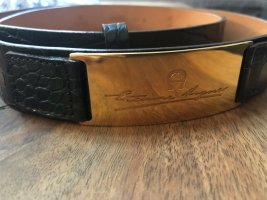 Etienne Aigner Leather Belt black-forest green leather