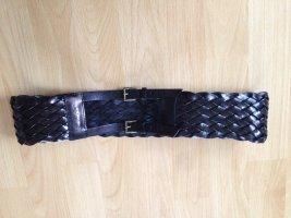 Patrizia Pepe Braided Belt black leather