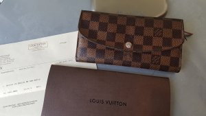 Original Louis Vuitton Emilia Geldbörse Portemonnaie Damier Ebene