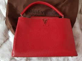 Louis Vuitton Handbag dark red leather