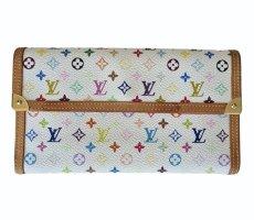 Original Louis Vuitton Geldtasche Börse Tresor multicolor weiß