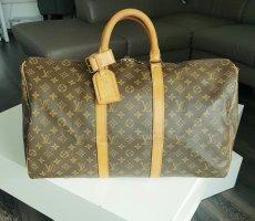 Louis Vuitton Sac de voyage brun sable-brun foncé