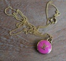 original Louis Vuitton LV Anhänger rosa / pink Kette TOP Festpreis