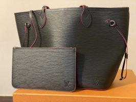 Original Louis Vuitton Neverfull MM  Rechnung Noir Hot Pink Rare